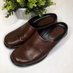 Dansko Brown Leather Clogs
